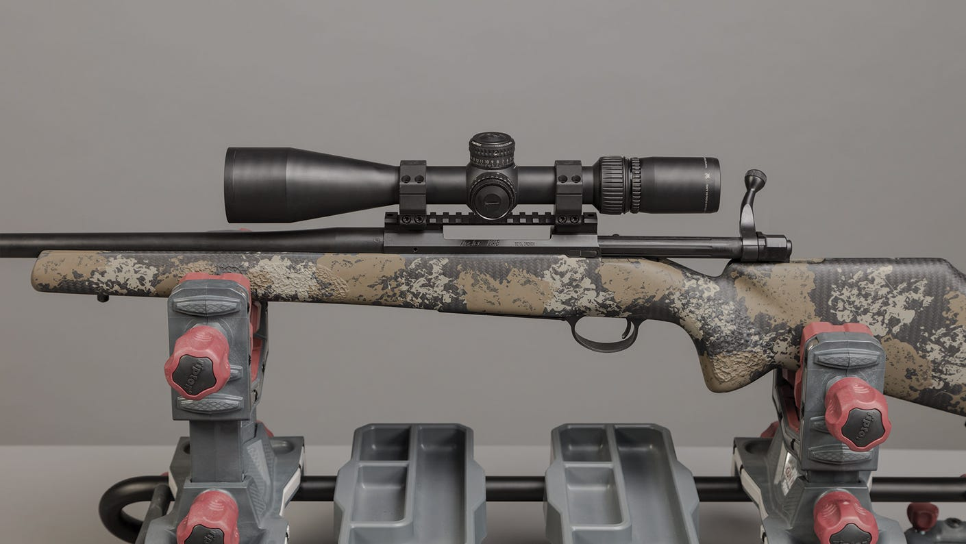 With your rifle shouldered, you should have a full sight picture with your head in a natural position.