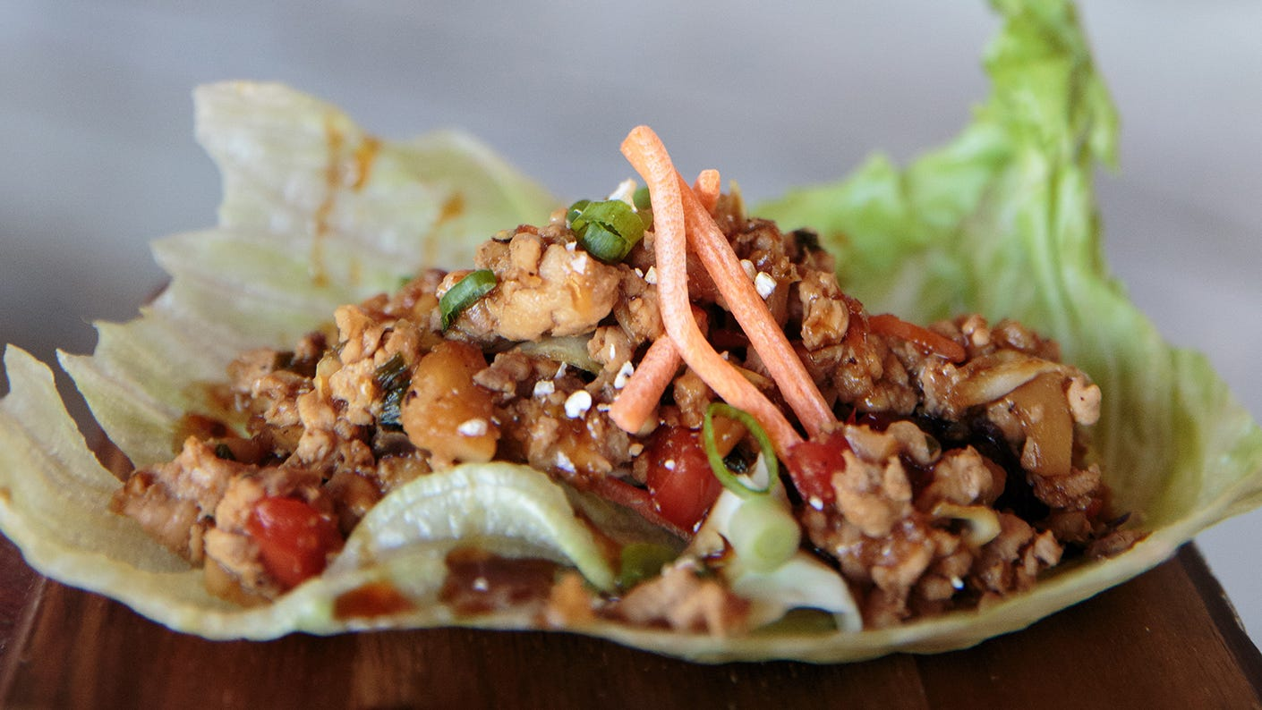 Ground Dove Lettuce Wraps with Homemade Teriyaki Sauce