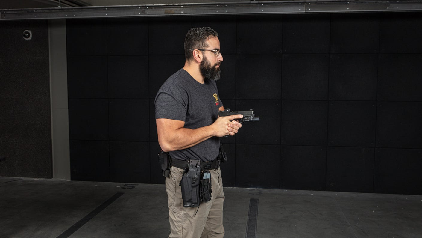 Dry fire practice shooting stance