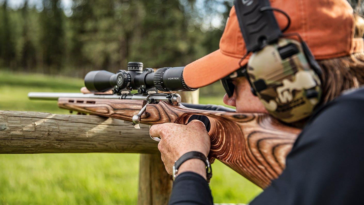 Shooter sighting in their Vortex riflescope